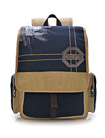 Men Canvas Casual / Outdoor Backpack Brown