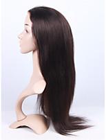 бразильские виргинские человеческие волосы 2 # темно-коричневый цвет полный шнурок&шнурка передний свет ук прямой парик с волосами