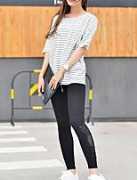 Women's Cotton Medium Solid Color Legging