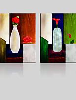 Холст Set / Unframed Холст печати Пейзаж / Цветочные мотивы/ботанический Классика / Modern,2 панели Холст Вертикальная Печать Искусство