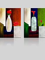 Leinwand-Set / Unframed Leinwand-Druck Landschaft / Blumenmuster/Botanisch Modern / Traditionell,Zwei Panele Leinwand Vertikal Druck-Kunst