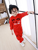 Girl's Casual/Daily Print Clothing SetCotton Winter Pink / Red / Gray