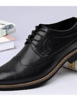 Men's Oxfords Comfort Leather Casual Black Coffee