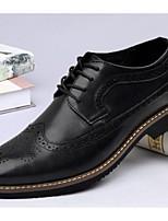 Черный / Телесный-Мужской-На каждый день-КожаУдобная обувь-Туфли на шнуровке