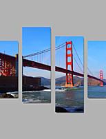 Sin marco lienzo de la lámina Paisaje Modern,Cuatro Paneles Lienzos Cualquier Forma lámina Decoración de pared For Decoración hogareña