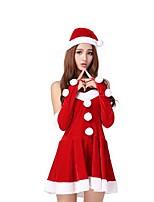 Fête / Célébration Déguisement Halloween Rouge Couleur Pleine Jupe / Chapeau Noël Féminin