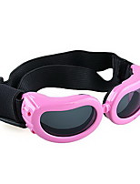 Pink Frame Pet Puppy Dog Eye UV Protection Goggles Sunglasses Eyewear S