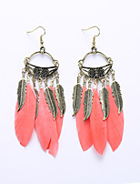 European And American Fashion New Feather Earrings Alloy Leaf Earrings