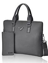 Men PVC Office & Career Laptop Bag Gray