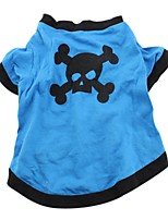 Halloween Skull & Paw Printing Cotton  Summer T-Shirt for Pet Dogs Dog Clothes
