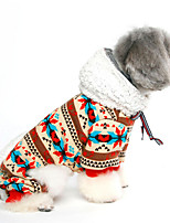 Dog Coat / Hoodie Dog Clothes Winter / Spring/Fall Flower Cute / Casual/Daily /