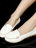 Women's Loafers & Slip-Ons Spring Summer Fall Comfort PU Casual Flat Heel Split Joint Black Blue Pink White Others