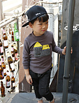 Boy's Casual/Daily Patchwork Hoodie & SweatshirtCotton Fall Black / Blue / Gray
