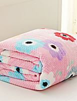 Coral fleece Multi-color,Yarn-dyed Floral / Botanical 70% Acrylic/30% Cotton Blankets S:150*200cm