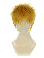 Attack on Titan Reiner Golden Yellow Short Halloween Wigs Synthetic Wigs Costume Wigs