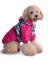 Dog Hoodie Blue / Rose Dog Clothes Winter / Spring/Fall Britsh Casual/Daily / Windproof /