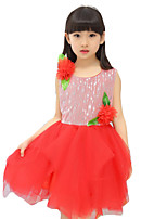 Girl's Casual/Daily Solid DressPolyester Summer Purple / Red/Pink