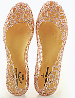 Women's Sandals Summer Comfort PVC Casual Flat Heel Others Black / Pink / Silver / Gold Others