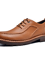 Men's Oxfords Spring Summer Fall Winter Comfort Leather Wedding Office & Career Party & Evening Black Blue Brown