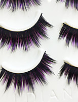 Eyelashes lash Full Strip Lashes Eyes Thick / Colorful Handmade Fiber Black Band 0.07mm 14mm