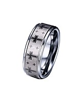Ring,Band Rings,Jewelry Tungsten Steel Fashionable Daily / Casual Silver 1pc,7 / 8 / 9 / 10 / 11 / 12 Men