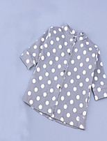 Girl's Casual/Daily Polka Dot Suit & BlazerCotton Spring / Fall Blue / Gray