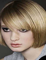 Fashion Style Short Straight Hair Blonde and Golden Color Synthetic Wigs for Women