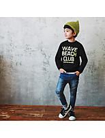 Boy's Casual/Daily Print Hoodie & SweatshirtCotton Fall Black