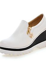 Women's Heels Spring / Summer / Fall Comfort Dress Wedge Heel Slip-on Black / Pink / White Others
