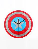 Moderne/Contemporain Vacances / Inspiré / Famille / Dessin animé Horloge murale,Rond / Nouveauté Acrylique / Verre 30cm(12in )