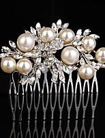 Mujer Diamantes Sintéticos Aleación Celada-Boda Ocasión especial Casual Al Aire Libre Peinetas 1 Pieza