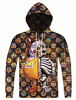 New Fashion Casual Cartoon Character Print Men 3d Hoodie Long Sleeve Men Hooded Pullover Sweatshirts