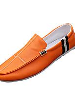 Черный Белый Оранжевый-Мужской-Повседневный-Полиуретан-На плоской подошве-Удобная обувь-Мокасины и Свитер