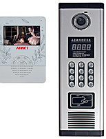 4  Inch Color Video Intercom Doorbell Telephone Access Control Set