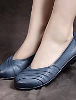 Черный / Синий / Бордовый-Женский-На каждый день-Кожа-На плоской подошве-Удобная обувь-На плокой подошве