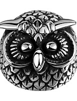 New Men's Fashion Stainless Steel Owl Ring Anello Uomo Gift US Size 8 9 10 11 Punk Gothic Style