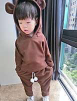 Boy's Casual/Daily Solid Clothing SetCotton Spring / Fall Brown / Beige