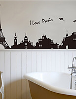 Architecture / Mode / Paysage Stickers muraux Stickers avion Stickers muraux décoratifs,PVC Matériel Amovible Décoration d'intérieurWall
