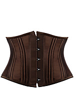 Shaperdiva Women's Double Steel Boned corset Plus Size Waist Training Shaper
