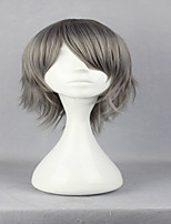 Anime Hitman Reborn Gokudera Hayato 32cm Short Straight Grey Fashion Party Wig Cosplay Wig