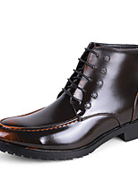 Men's Oxfords Spring / Fall Others Leather / Rubber Office & Career / Casual Low Heel Black / Yellow / Red / Silver Others