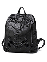 Casual Event/Party Office & Career Backpack Women Other Leather Type Polyester Cotton Black