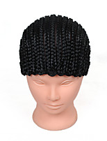 Cornrows Wig Cap For Making Wigs Easier Sew Adjustable Wig Cap Comfortable Fashion High-grade Black Wig Cap 1pcs Wig Accessories