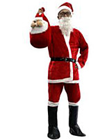Festival/Svátek Halloweenské kostýmy Červená Jednobarevné Vrchní deska / Kalhoty / Pásek / Klobouky / Kozačky Vánoce Pánské Plyš