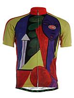 Sportif Maillot de Cyclisme Homme Manches courtes Vélo Respirable / Séchage rapide / Zip frontal / Tissu Ultra Léger / Doux / Confortable