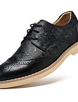 Men's Oxfords Fall Winter Other Bullock shoes Formal Shoes Cowhide Casual Flat Heel Lace-up Black Brown Other