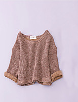 Girl's Casual/Daily Solid Sweater & Cardigan,Cotton Spring / Fall Blue / Gray
