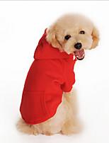 Hunde Kapuzenshirts Rot / Orange / Schwarz / Grau Hundekleidung Winter einfarbig Modisch / Lässig/Alltäglich / Sport