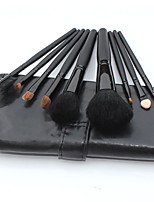 9 Makeup Brushes Set Goat Hair Professional / Portable Wood Handle Face/Eye/Lip