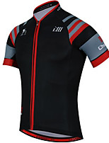 Sports Cycling Jersey Unisex Short Sleeve BikeBreathable  Quick Dry  Anatomic Design  Ultraviolet Resistant  Front Zipper  Back
